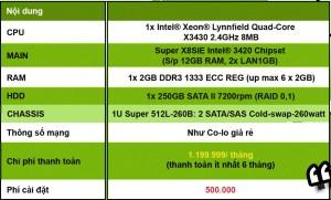 Thông số cấu hình server hạt dẻ 3