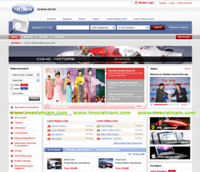 Giao diện website B2B Viet2Word